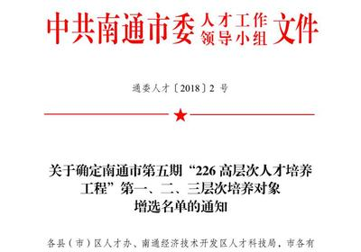 热烈祝贺江苏国沃纺织孙利萍同志被市委授予:南通市青年科学技术带头人